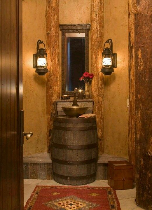 Love the barrel for a sink basin