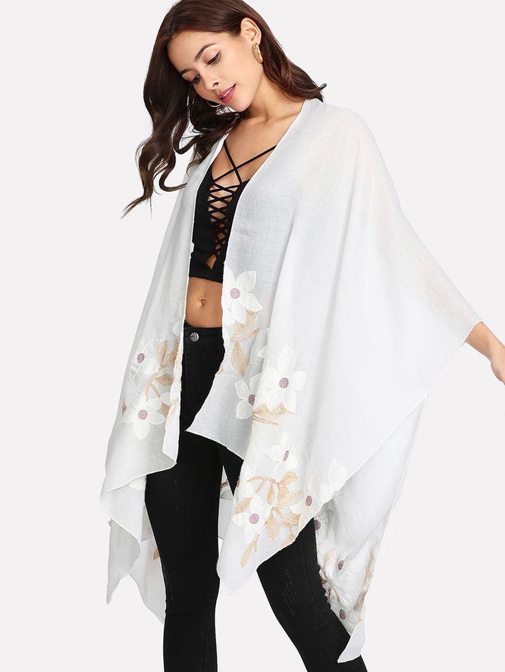 Shop Embroidered Flower Kimono online. SheIn offers Embroidered Flower Kimono & more to fit your fashionable needs.