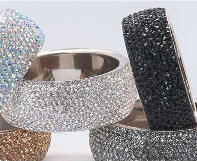 Chunky Crystal Bangles from www.foreverfabulous.ie