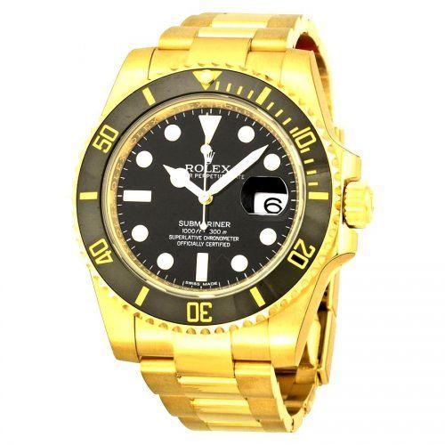 Find the best Rolex Submariner Price for Rolex Submariner Date Watch: 18 kt yellow gold - 116618BKSO model. #Rolex #Submariner