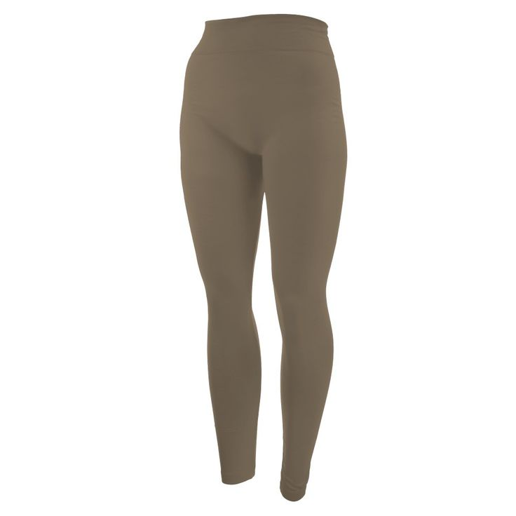 khaki leggings. One size fits all, full length, summer weight, Lycra spandex.