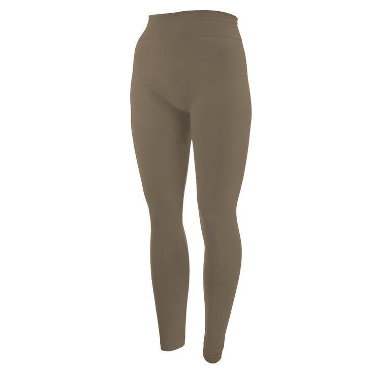 khaki leggings. One size fits all, full length, summer weight, Lycra spandex.