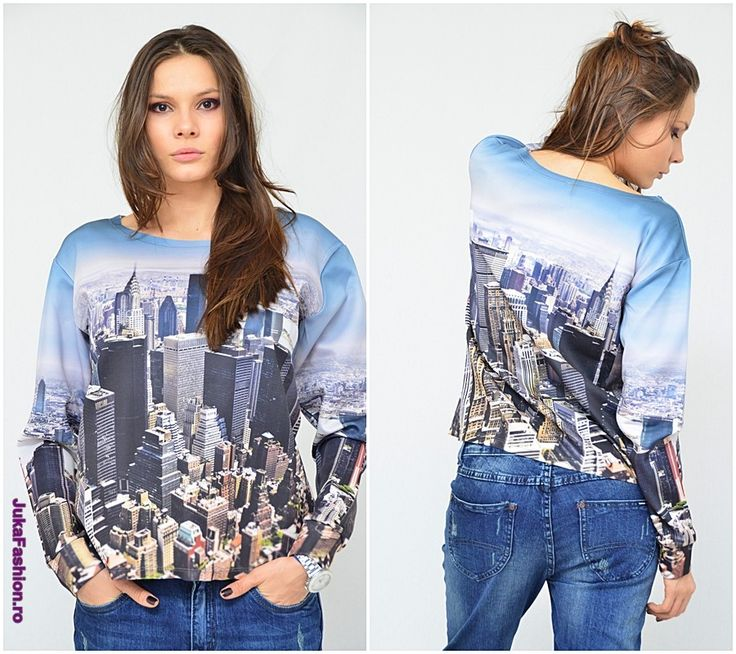 "Poze Bluza ""City Day"" by JukaFashion.ro cod 402"