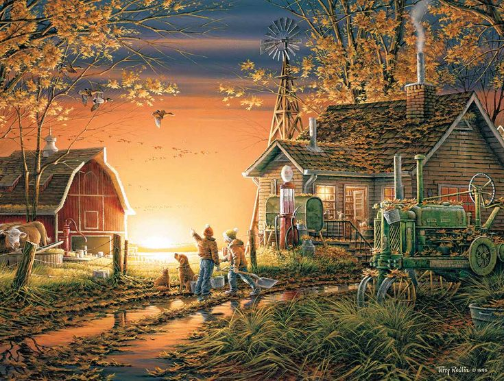 Morning Surprise by Terry Redlin