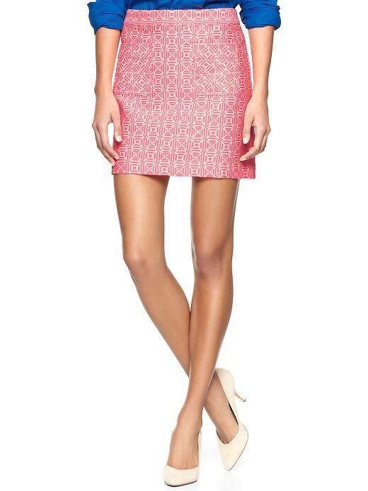 Gap | Jacquard mini skirt