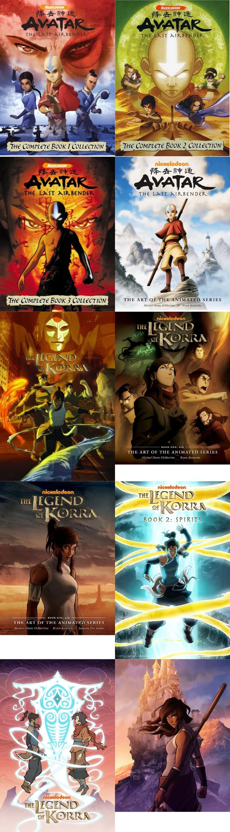 Avatar: the last airbender / the Legend of Korra Official Posters