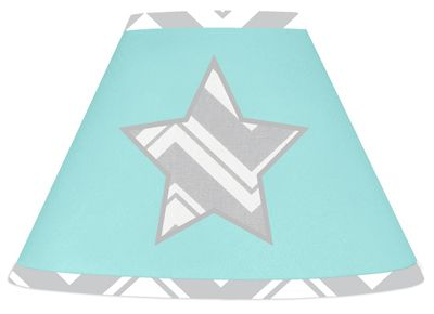 Buy Turquoise and Gray Chevron Zig Zag lamp shade by Sweet Jojo Designs and add a style to your room. BabysOwnRoom.com: Free Shipping, Great Service!
