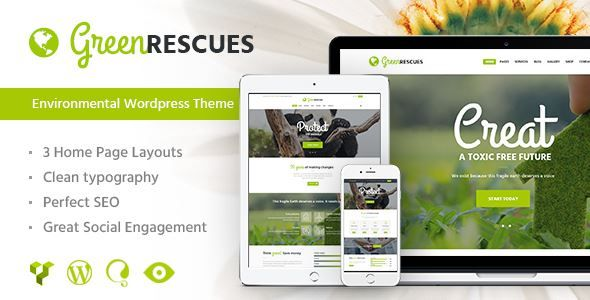 ThemeForest - Green Rescues - Environment Protection Theme  Free Download