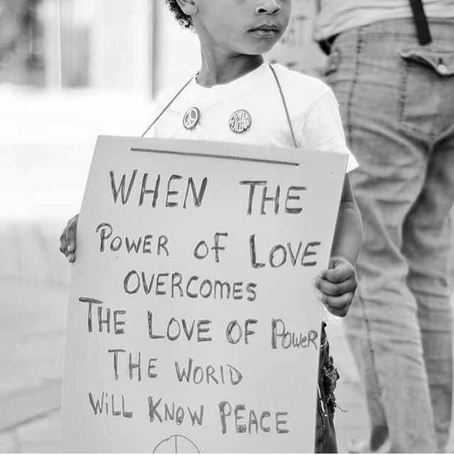 When The Power Of Love Overcomes The Love Of Power, The World Will Know  Peace ☮ / Jimi Hendrix Quote / Black And White Photography