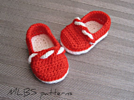 Crochet pattern baby booties crochet shoes by MyLittleBabyShoes