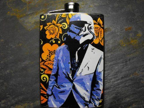 Star Wars Storm Trooper Decorated 8oz. Stainless Steel Flask - FN206 . $18.00. This very unique flask is decorated with a durable image on the front only. The flask holds 8oz of your favorite liquor.