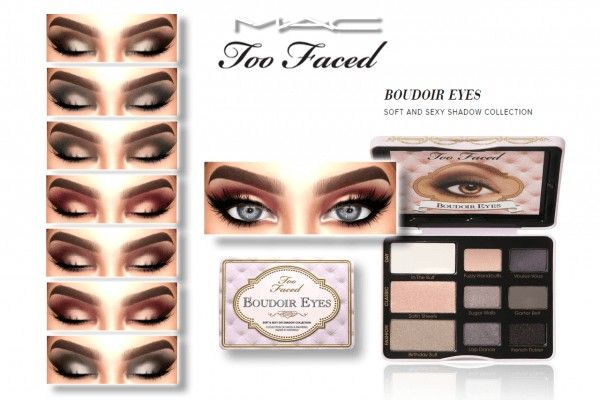 "MAC cosimetics: Too Faced ""Boudoir Eyes"" • Sims 4 Downloads"