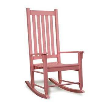 Tortuga Outdoor Pink Traditional Wooden Rocking Chair | TRC-PINK