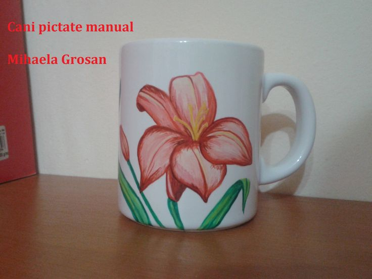 crin pictat / lily painted on mug