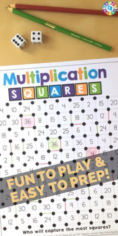 This FREE multiplication game is a great way to get students to practice their multiplication facts in math centers!