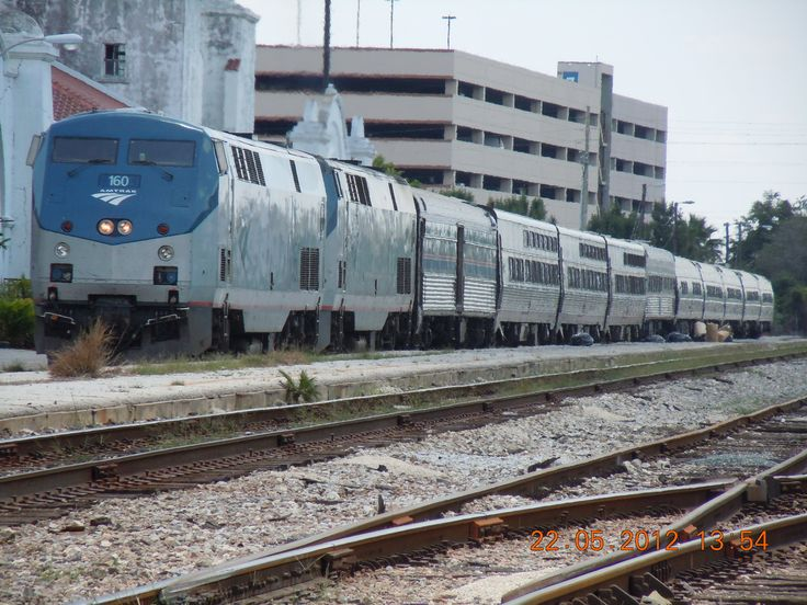 Orlando Florida USA Amtrak Silver Meteor heading to New