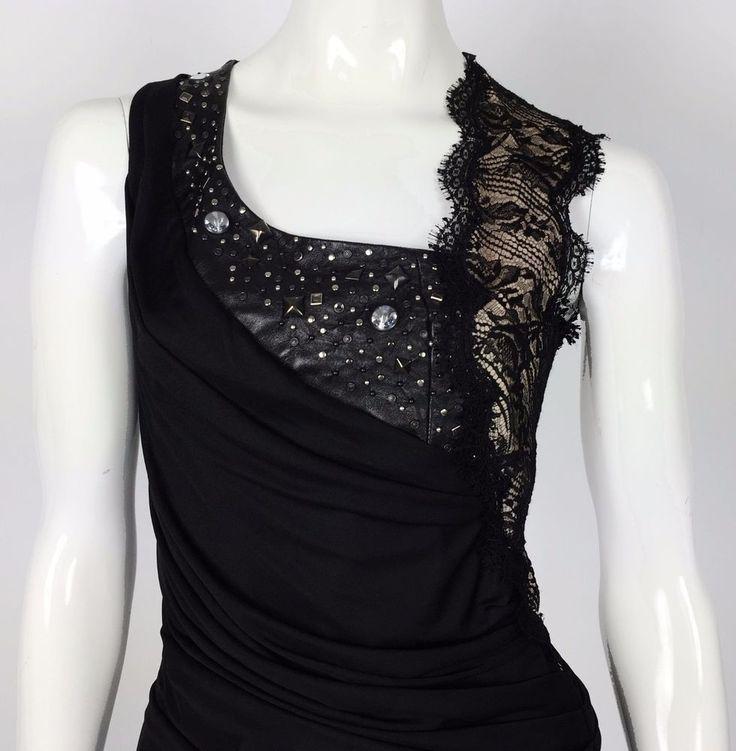 Blumarine abito vestito dress formale 42 nero cerimonie matrimonio formale T1065
