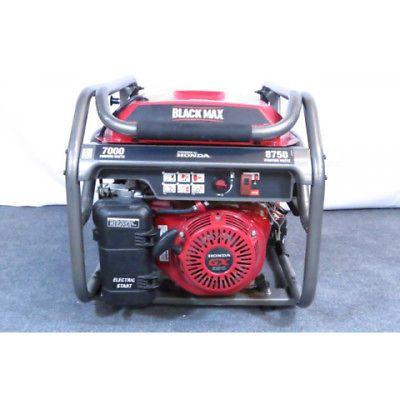 Black Max 7000 / 8750 Watt Electric Start Gas Generator Powered by Honda Local