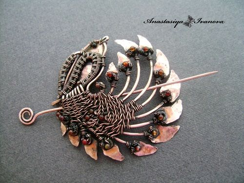 Copper Wire Wrapped and Metal Work Jewelry by Nastiva Jewelry ~ The Beading Gem's Journal