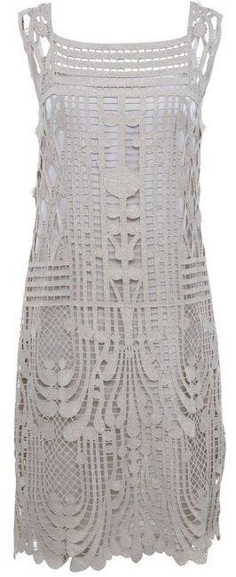 Art Deco inspired mini-dress | Women's Crochet Mini Dress by Jules B Designer Clothing, this is so pretty and femme.