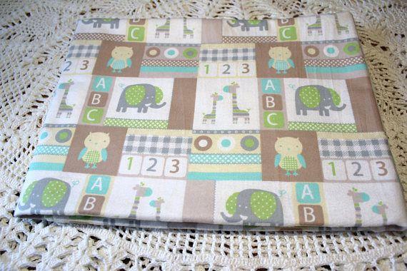 Single Layer Receiving Blanket 123 Baby Animals