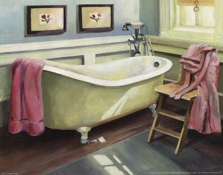 I want a clawfoot tub and paint it this green.