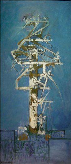 Thorn Tree Graham Sutherland 1954 oil on canvas 53 x 24 ins