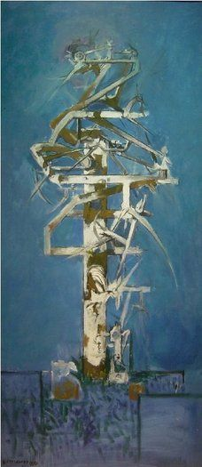 Thorn Tree Graham Sutherland 1954 oil on canvas 53 x 24 ins