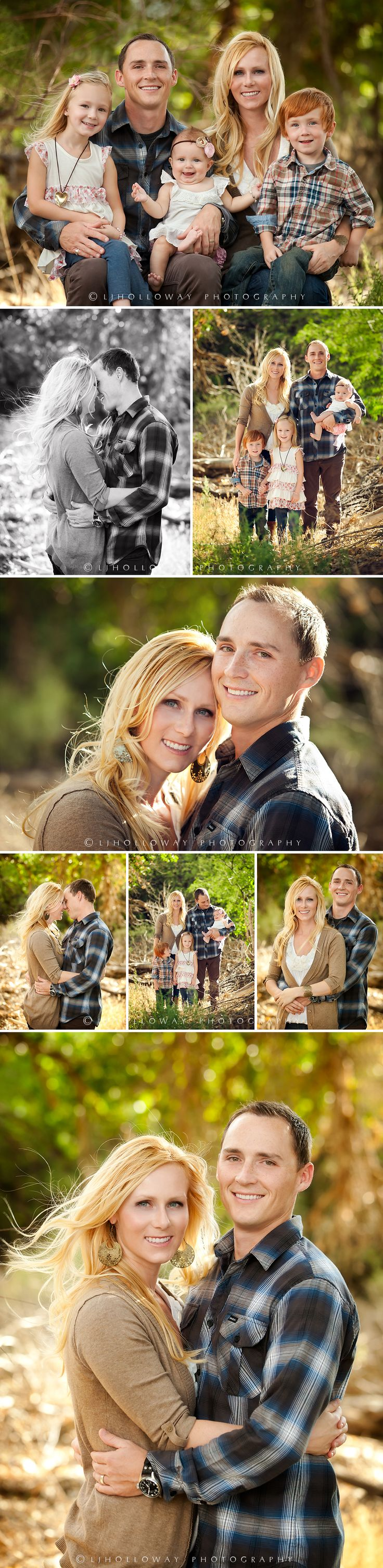 Family portraits with natural light