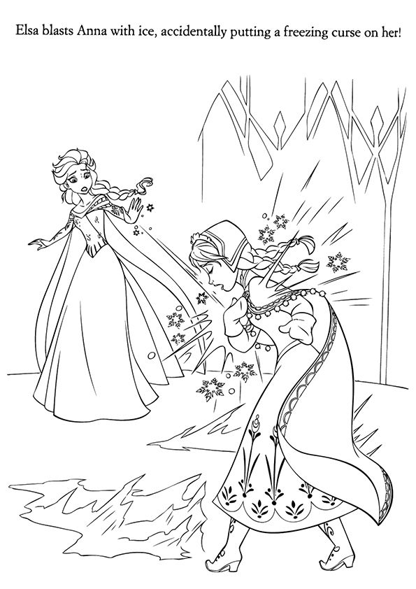 Coloring Page In 2020 Disney Coloring Pages Elsa Coloring Pages Frozen Coloring