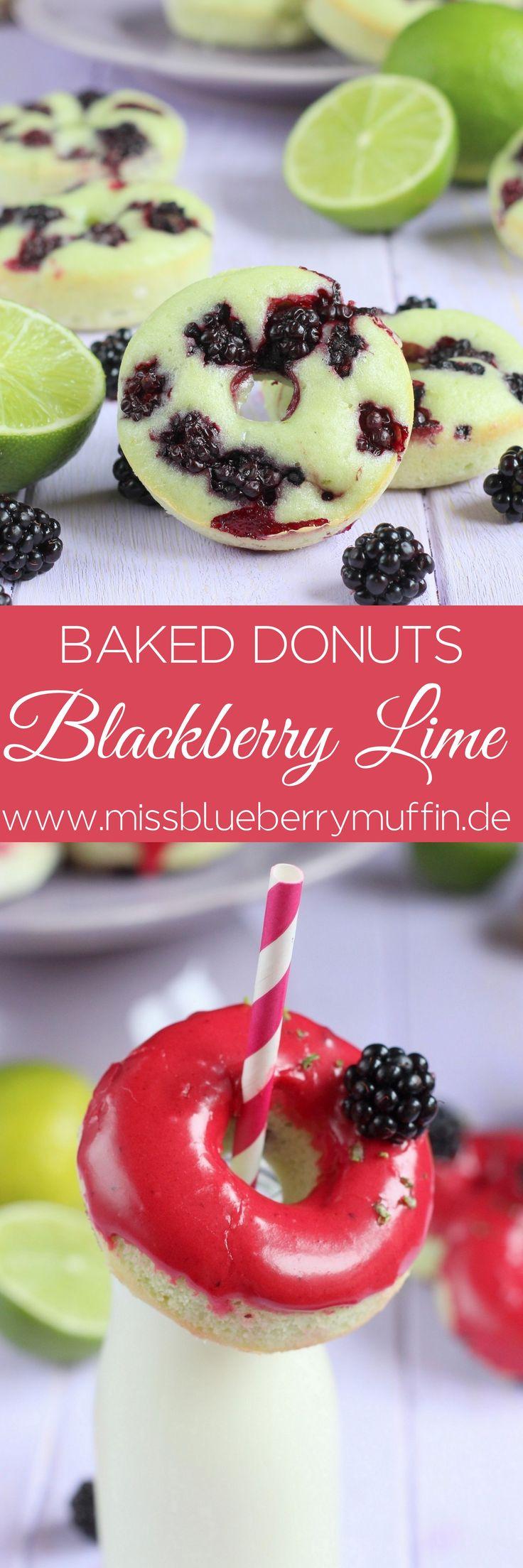 Blackberry Lime baked Donuts // Brombeer-Limetten-Donuts aus dem Backofen <3