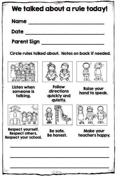 Best 25 Behavior chart preschool
