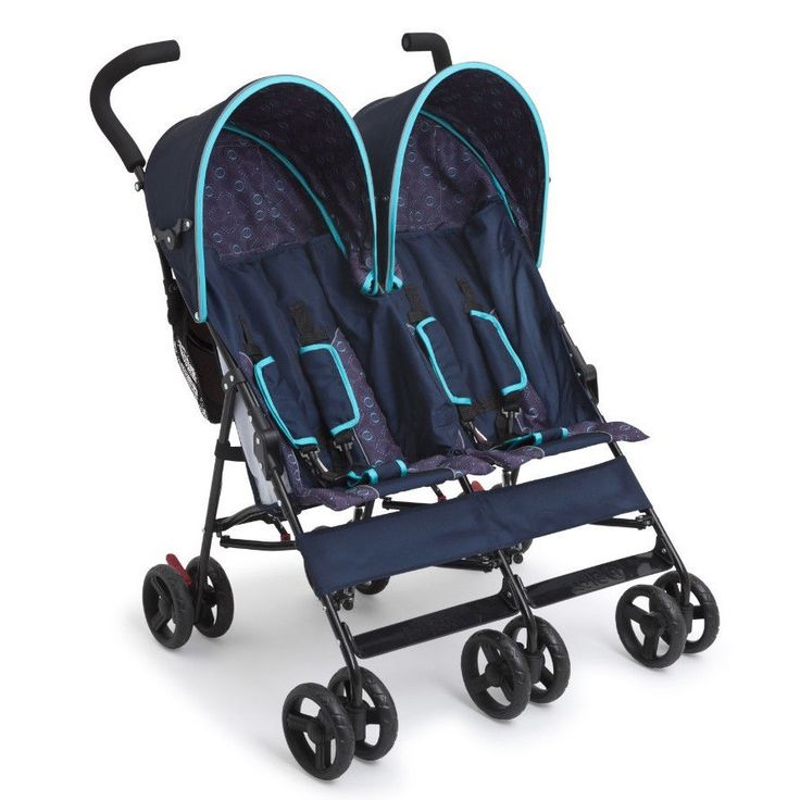 Stroller For Twins Two Kids Double Baby Buggy Light Folding Canopy Storage Bags #twinstroller #doublestroller #foldingstroller