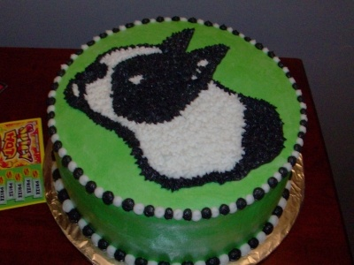 Boston Terrier Cake By cakeitalloff on CakeCentral.com