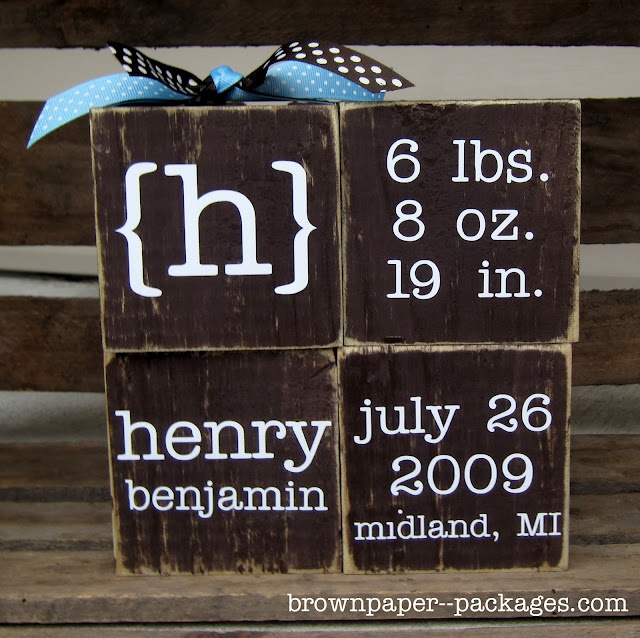 LOVE it.: Baby Announcement, Babies, Craft, Baby Gifts, Gift Ideas, Cute Ideas, Baby Blocks, Custom Baby