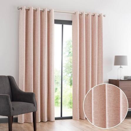 Dunelm Orange Lewes Eyelet Curtains