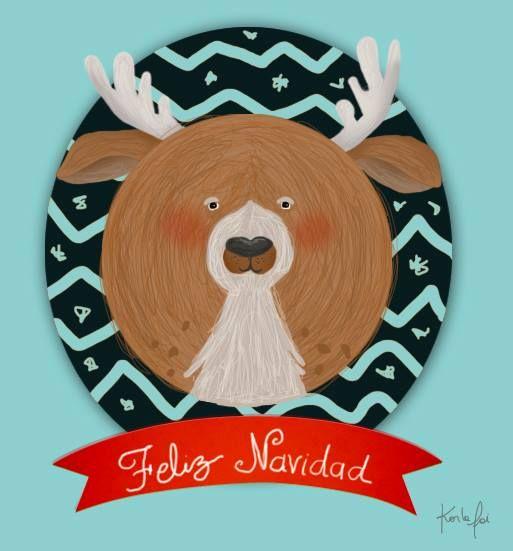 #Karlafai #Christmas #reindeer #reno #Illustration #ilustracion