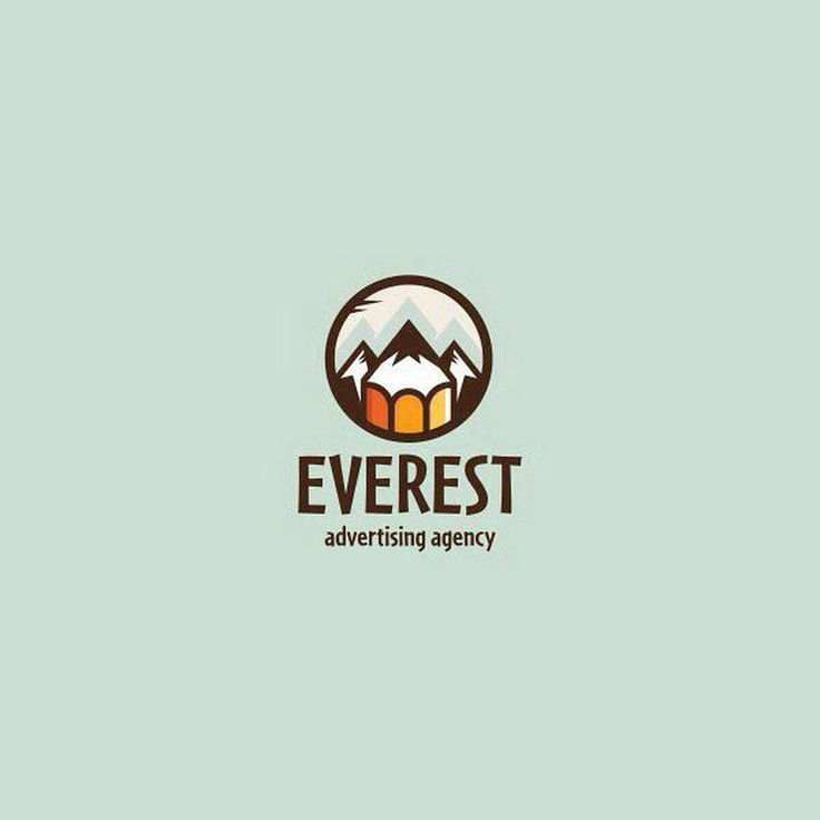 #logoawesome from @difiz -  Everest. Logo for advertising agency Cool, yeah? #logo #logotype #character #difiz #branding