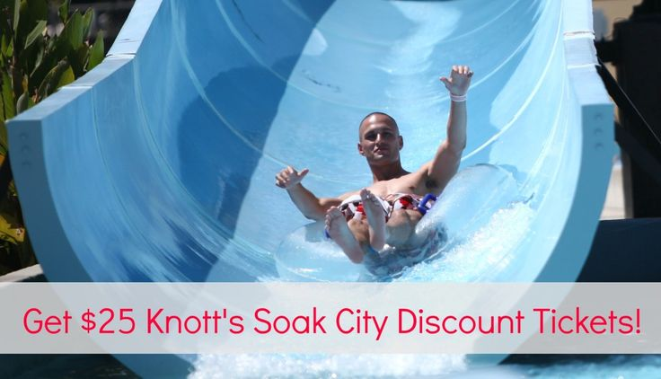 Get $25 Discount Tickets to Knott's Soak City in Buena Park!  Valid May 16 - Sept. 14, 2015.  There are only a limited # of tickets available.  Happy Summer! #affiliate #discounttickets #knotts #knottsberryfarm #waterpark