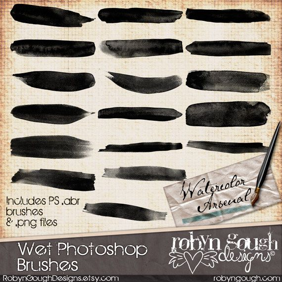 how to make brush less waterxolour photoshop