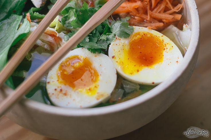 Recette rapide de Ramens aux légumes : nouilles japonaises ...