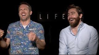 Ryan Reynolds and Jake Gyllenhaal interview for LIFE DEADPOOL  UNCENSORED