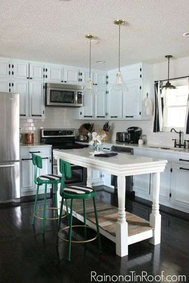 Before And After This Renovated Ranch Kitchen Beautifully Blends Rustic With Modern: 17 Best Ideas About Portable Kitchen Island On Pinterest