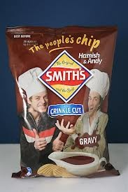 hey is that Hamish and Andy chips...they were actually pretty good!