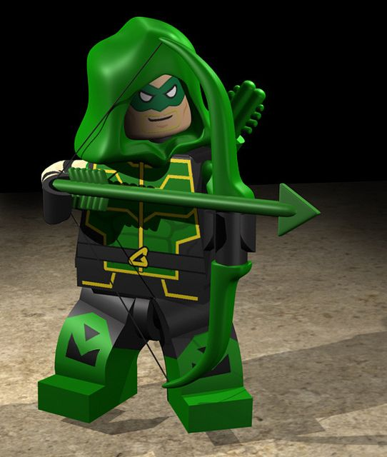 Green Arrow from the Lego Batman 2 video game