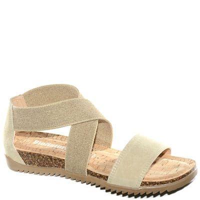 #Sandalo in sughero con doppia fascia elastica alla caviglia.