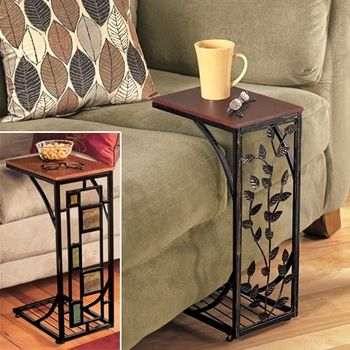 this might be nice for the camper  - Decorative leaf space-saving side table, #FreshFinds via Catalog Spree!$24.95---such a cute idea