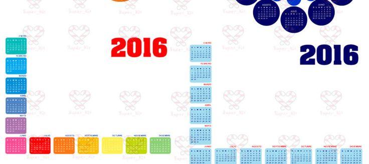 Calendarios 2016 Kit Imprimible Almanaques Personalizados en Chuly Lima, Peru