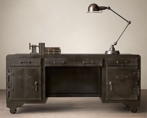 That Retro Appeal: The Iron Vault Desk By Restoration Hardware | First Look http://stupidDOPE.com/?p=342469 #stupidDOPE