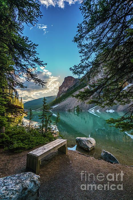 Quiet solitude along Lake Moraine in Banff Canada.  Photography by Mike Reid